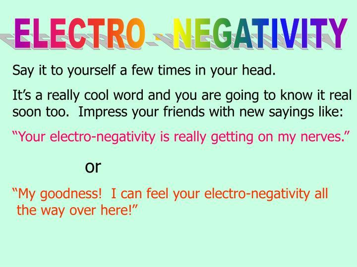 ELECTRO - NEGATIVITY