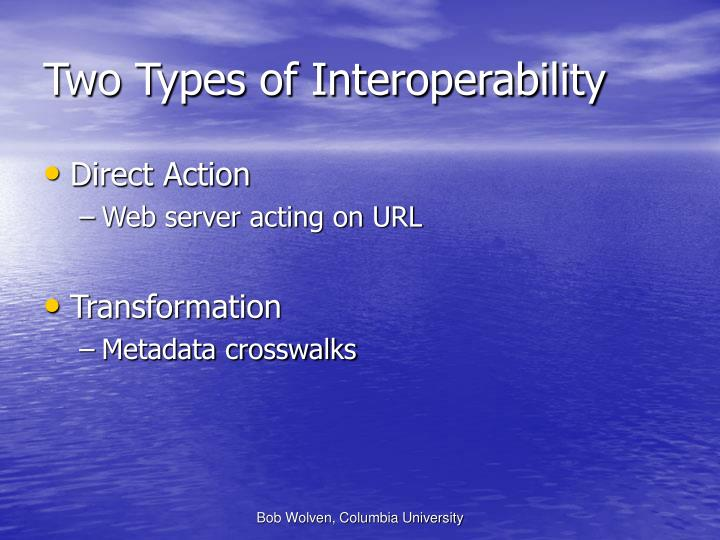 Two Types of Interoperability