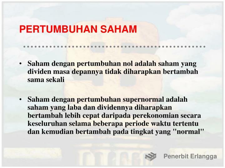 PERTUMBUHAN SAHAM