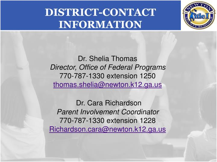 District-Contact Information