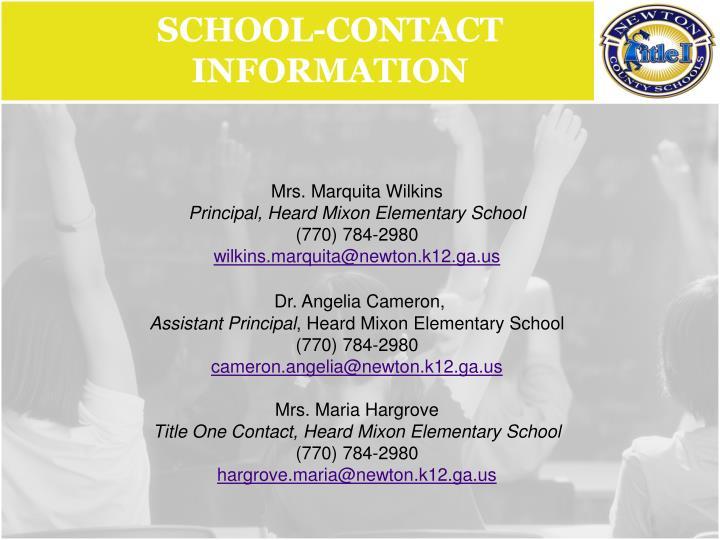 School-Contact Information