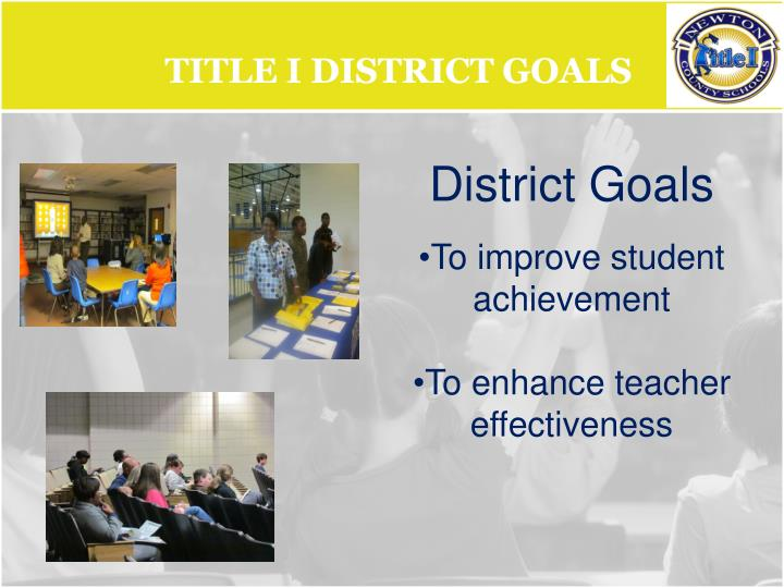 Title I District Goals
