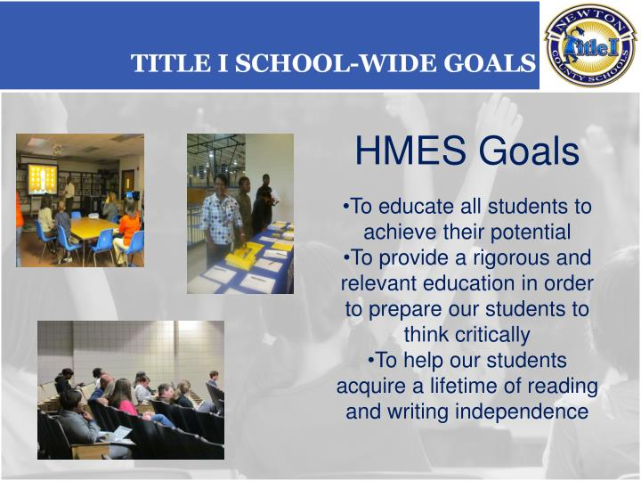 Title I School-wide Goals