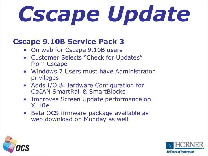 Cscape Update