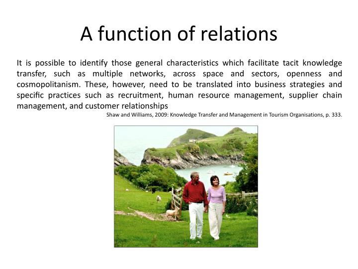 A function of relations