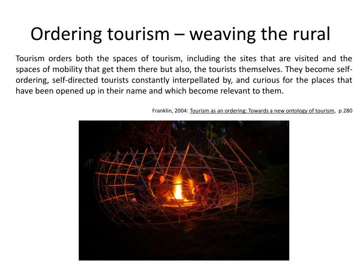 Ordering tourism – weaving the rural