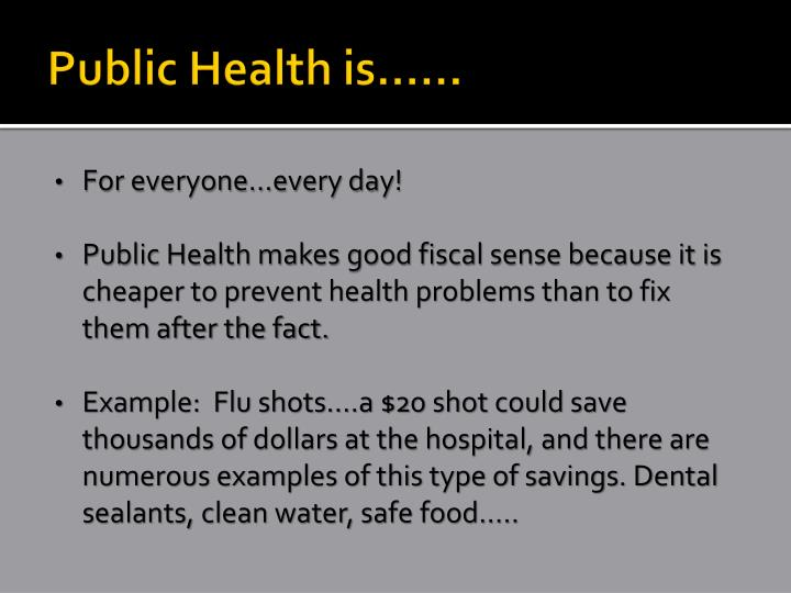 Public Health is……