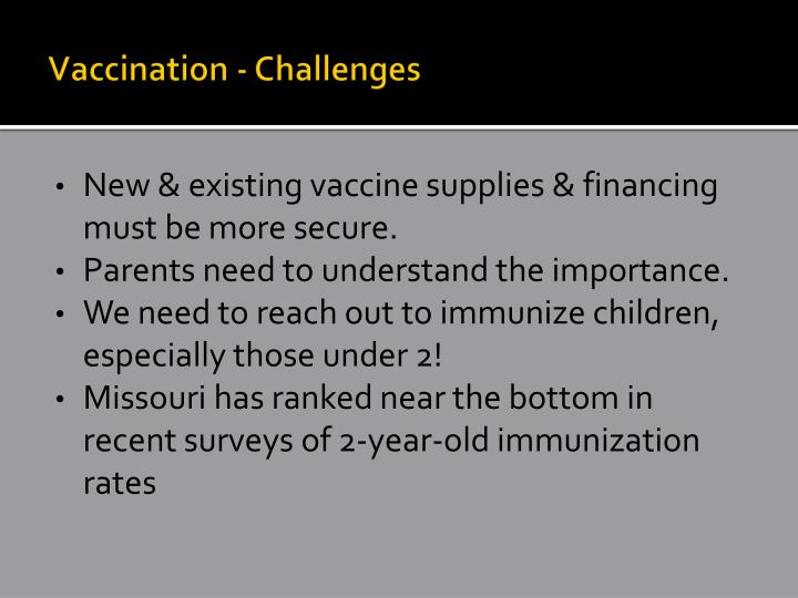 Vaccination - Challenges