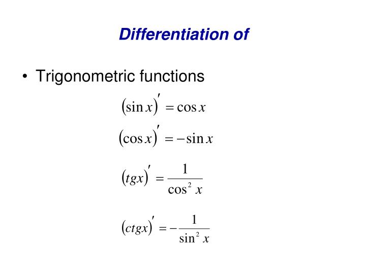 Differentiation of