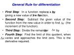 general rule for differentiation