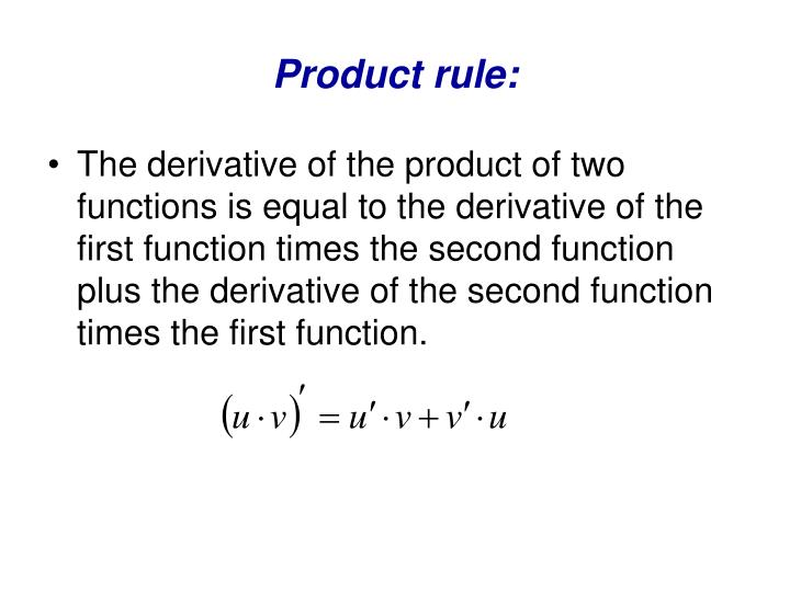 Product rule: