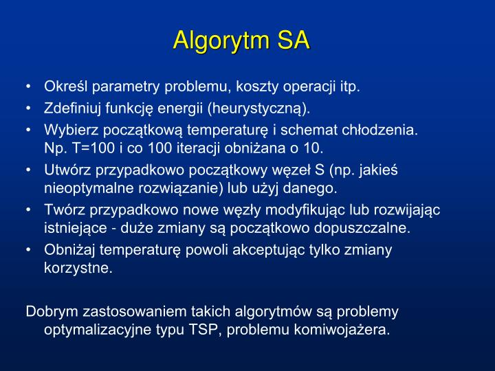Algorytm SA