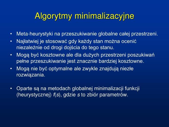 Algorytmy minimalizacyjne