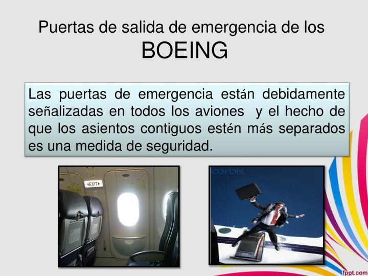 Puertas de salida de emergencia de los