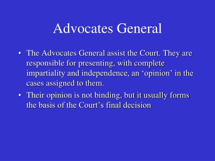 Advocates General