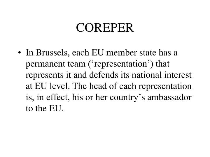 COREPER