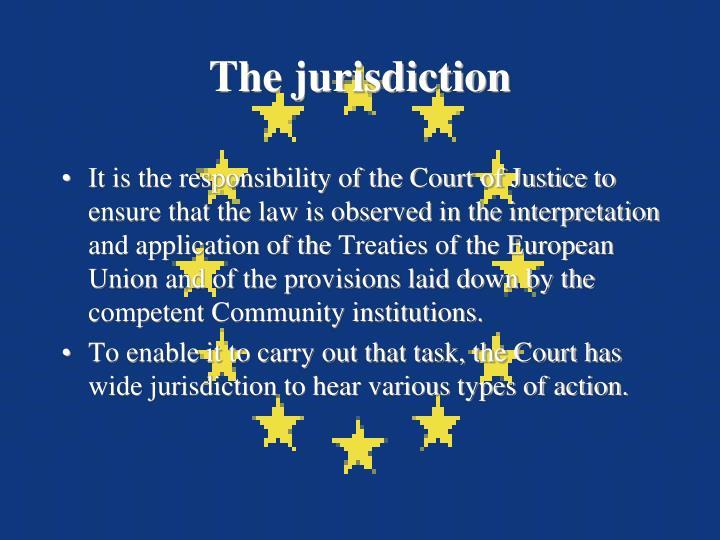The jurisdiction