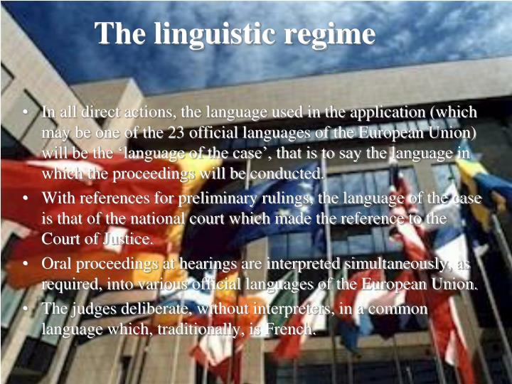 The linguistic regime