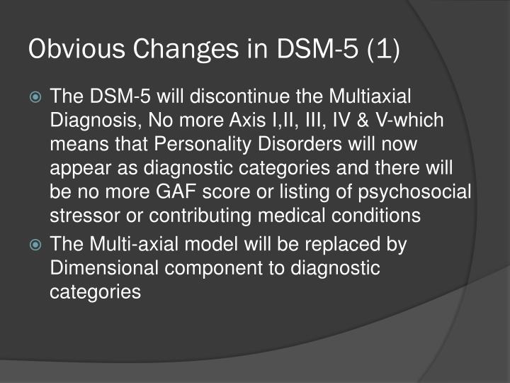 changes in the dsm 5 Henry tenenbaum, phd licensed psychologist licensed school psychologist drdad7@comcastnet changes in dsm-5: an update for.