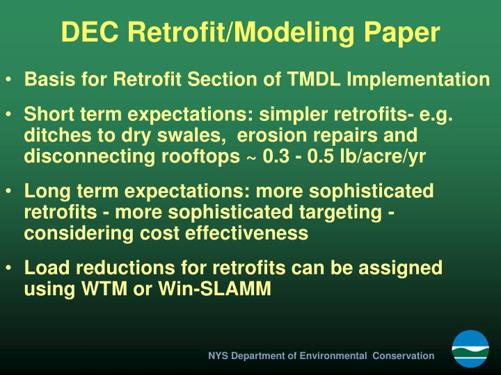DEC Retrofit/Modeling Paper