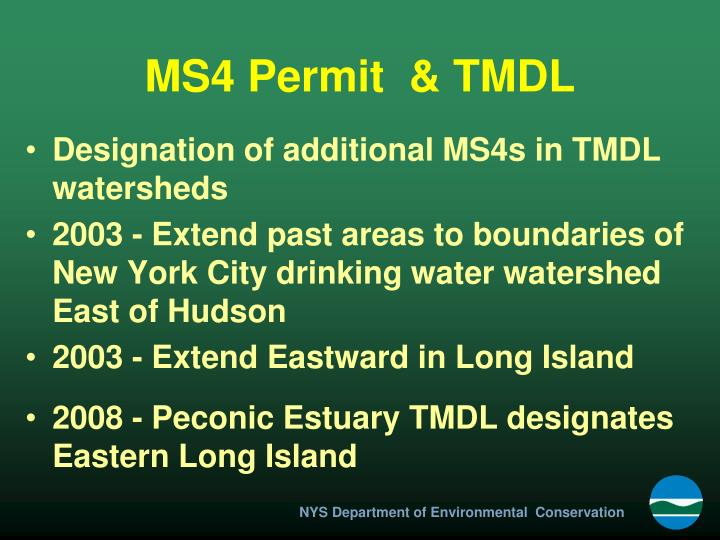 MS4 Permit  & TMDL