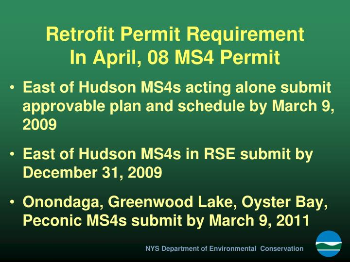 Retrofit Permit Requirement