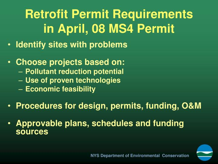 Retrofit Permit Requirements
