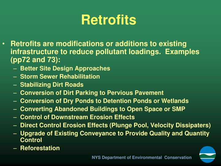 Retrofits