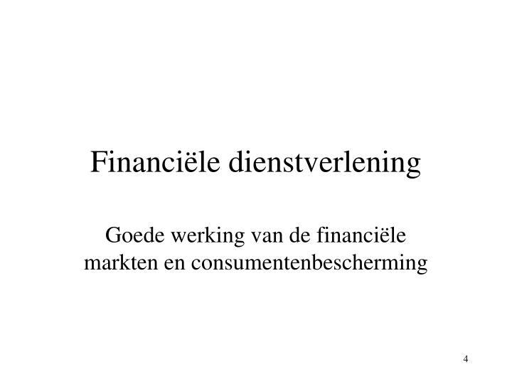 Financiële dienstverlening