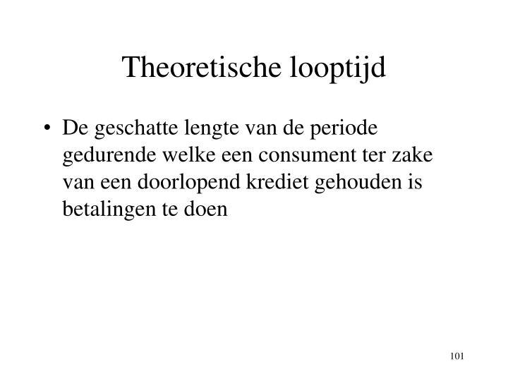 Theoretische looptijd
