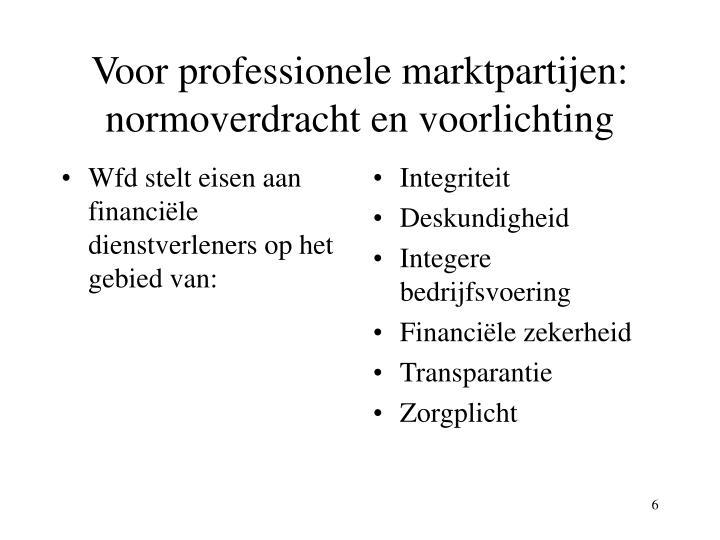 Wfd stelt eisen aan financiële dienstverleners op het gebied van: