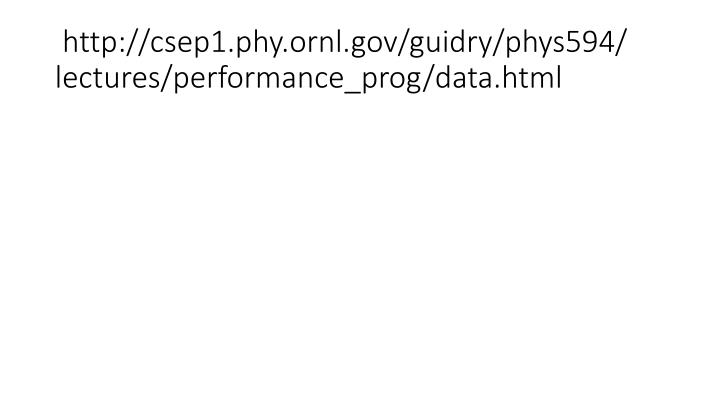 http://csep1.phy.ornl.gov/guidry/phys594/ lectures/performance_prog/data.html