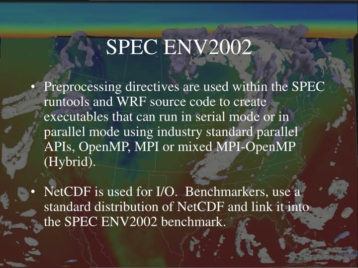 SPEC ENV2002