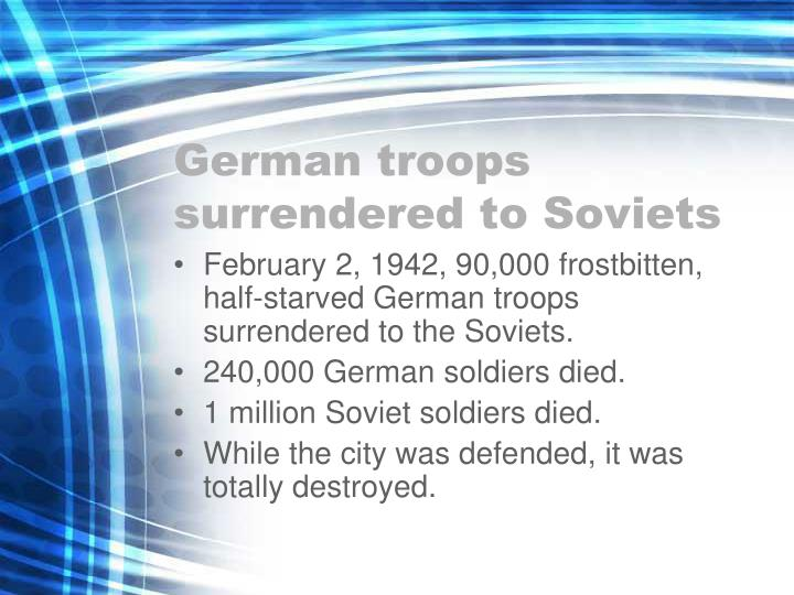 German troops surrendered to Soviets