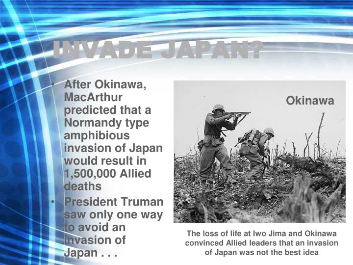 INVADE JAPAN?
