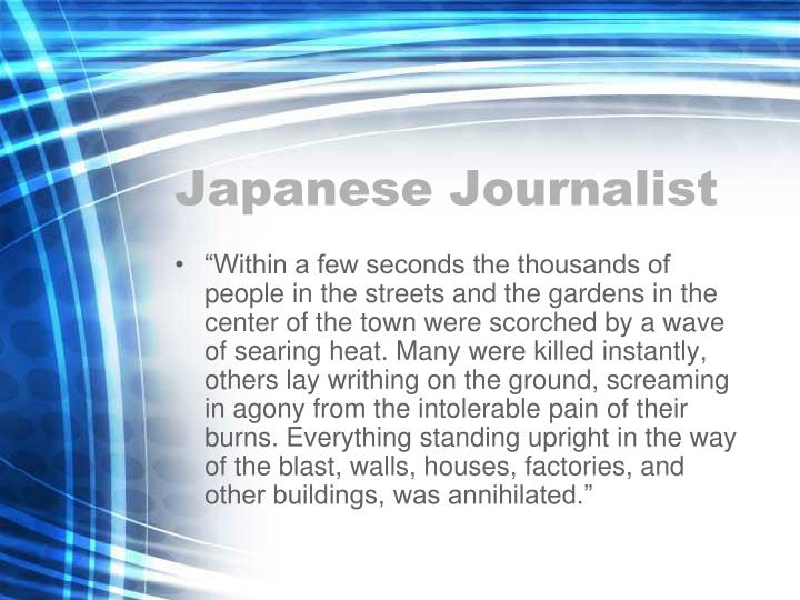 Japanese Journalist