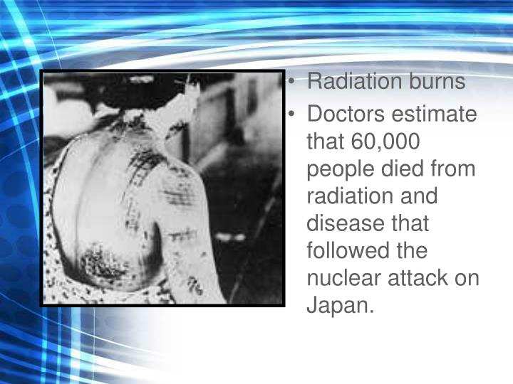 Radiation burns