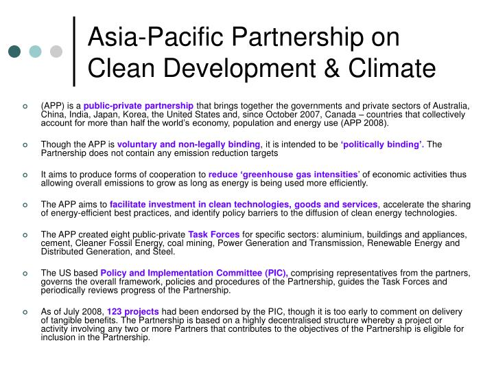 Asia-Pacific Partnership on Clean Development & Climate