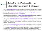 asia pacific partnership on clean development climate