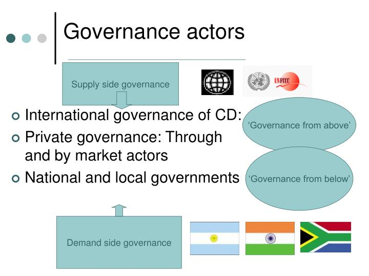 Governance actors