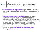 governance approaches