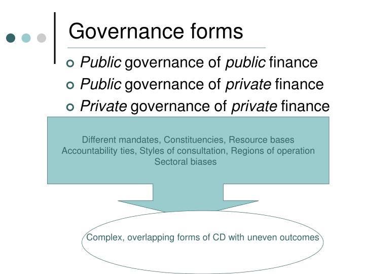 Governance forms