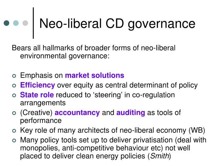 Neo-liberal CD governance