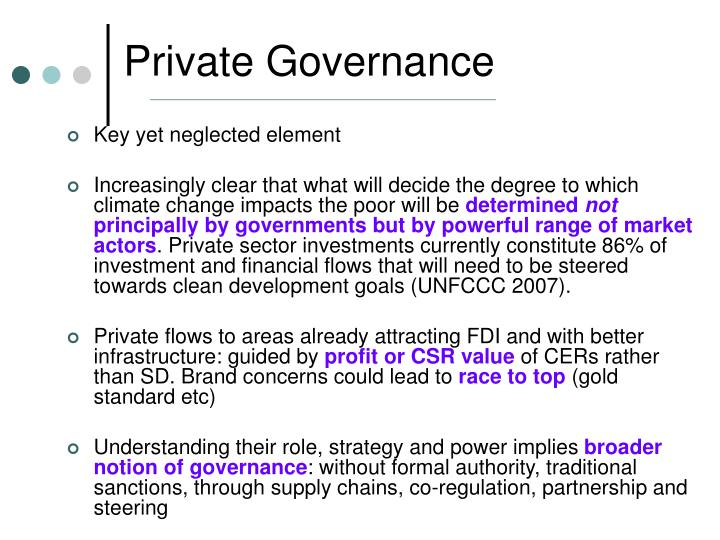 Private Governance