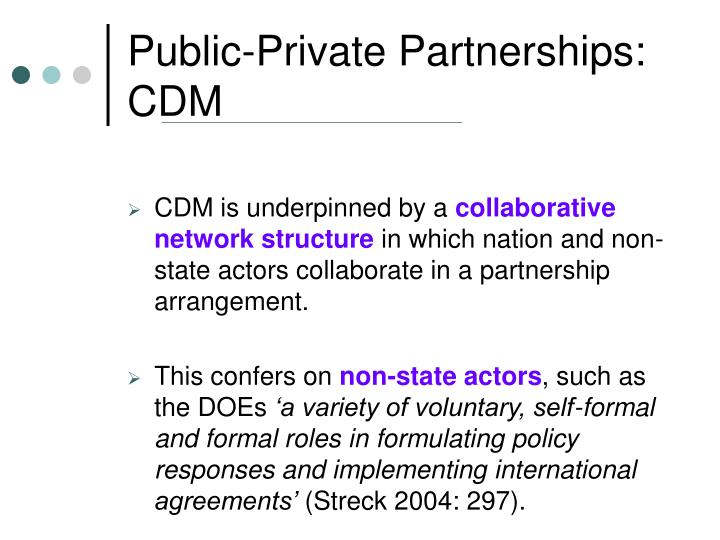Public-Private Partnerships: CDM