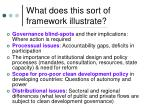 what does this sort of framework illustrate