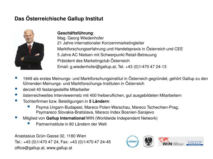 Das Österreichische Gallup Institut