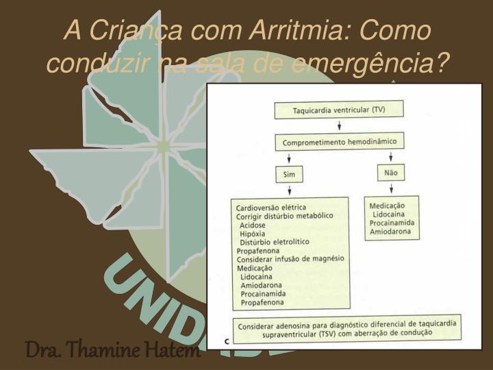 A Criança com Arritmia: Como conduzir na sala de emergência?