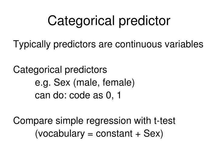 Categorical predictor