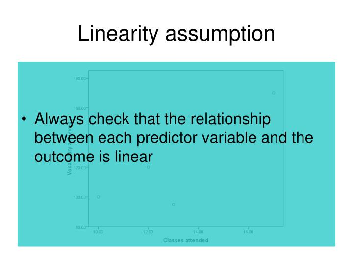 Linearity assumption